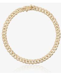 SHAY - 18k Yellow Gold Mini Pavé Diamond Link Bracelet - Lyst