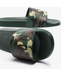 DSquared² Camouflage Icon Slides - Green