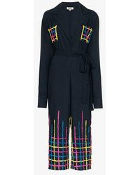 All Things Mochi - Amelia Embroidered Jumpsuit - Lyst