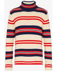 Gucci - Rear Appliqué Striped Sweater - Lyst