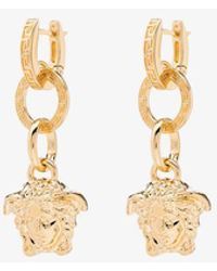Versace Medusa Drop Earrings - Metallic