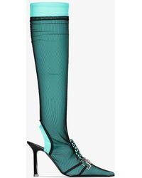 Ancuta Sarca 95 Knee-high Sock Boots - Green