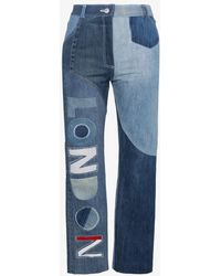 Ronald Van Der Kemp - London High-waisted Patchwork Jeans - Lyst