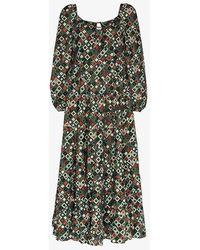 RIXO London Cameron Dress - Green