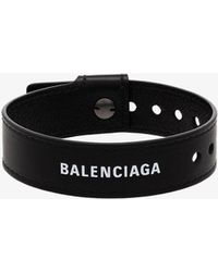 Balenciaga Black Party Leather Bracelet