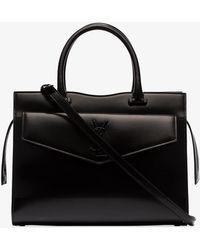 Saint Laurent - Black Medium Uptown Tote Bag - Lyst