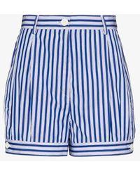 Prada Striped Shorts - Blue