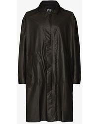 Y-3 Grey Gore-tex Hooded Parka Coat