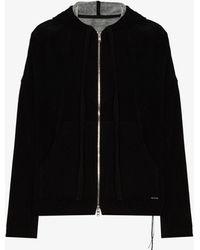 Mastermind Japan Skull Print Zip-up Cotton Hoodie - Black