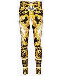 Versace Baroque Print leggings - Black