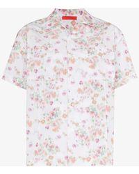 Commission Uniform Floral Print Shirt - White