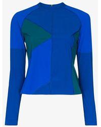 LNDR Malibu Colour Block Rashguard Top - Blue