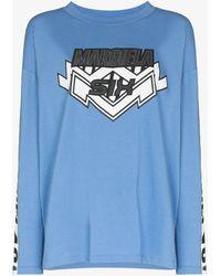 MM6 by Maison Martin Margiela Printed Long Sleeve T-shirt - Blue