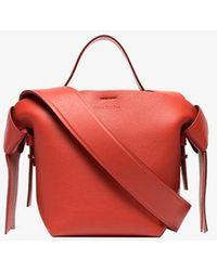 Acne Studios - Red Musubi Mini Leather Shoulder Bag - Lyst