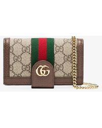 Gucci Ophidia GG Chain Iphone 7/8 Case - Brown