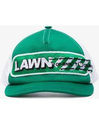 Off-White c/o Virgil Abloh - Green Lawn Girl Cotton Baseball Cap - Lyst