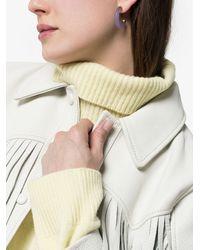 Loren Stewart - Purple Jade Hoop Earrings - Lyst