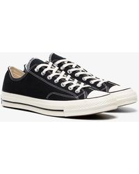 Converse - Black Chuck Taylor All Stars 70 Cotton Low-top Trainers - Lyst