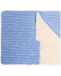 Jacquemus Baby Blue Oversized Kitted Scarf