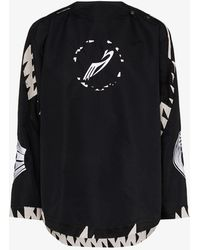 Kiko Kostadinov X Browns 50 Contrast Trim Logo Jacket - Black