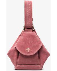 MANU Atelier - Pink Fernweh Micro Suede Bag - Lyst
