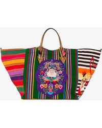 Christian Louboutin - Mexicabas Stripe Embroidered Tote - Lyst