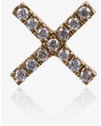 Loquet London - Womens Metallic 18k Yellow Gold Diamond Kiss Charm - Lyst