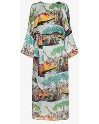 Chufy - Savannah Silk Tunic Maxi Dress - Lyst