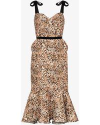 Johanna Ortiz Love Between Species Leopard Print Dress - Brown
