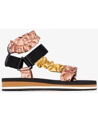 MIDNIGHT 00 Scrunchie Strap Sandals - Pink