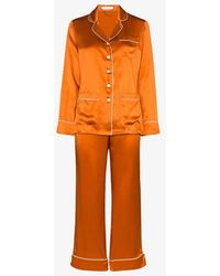 Olivia Von Halle Coco Silk Pyjama Set - Metallic