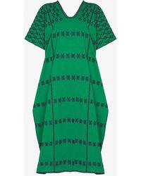 Pippa Holt Three Panel Kaftan Midi Dress - Green