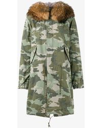 Mr & Mrs Italy - Fur-trimmed Camouflage Parka - Lyst