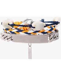 Balenciaga | Shell Logo Braided Bracelet | Lyst