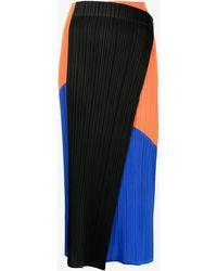 Pleats Please Issey Miyake Collage Plissé Midi Skirt - Black