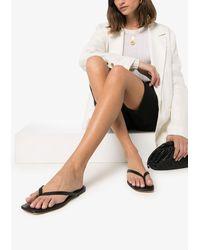 STUDIO AMELIA Flat Flip-flop Sandals - Black
