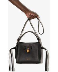 Tom Ford Padlock Leather Top Handle Bag - Black