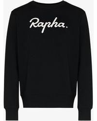 Rapha Logo Print Sweatshirt - Black