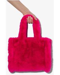 Stand Studio Liz Faux Fur Tote - Pink