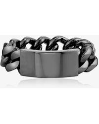 SHAY 18k Black Id Flat Link Ring - - 18kt - Metallic