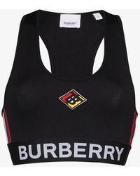 Burberry Black Logo Stretch Jersey Bra