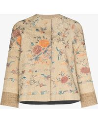 By Walid Ilana Embroidered Jacket - Natural