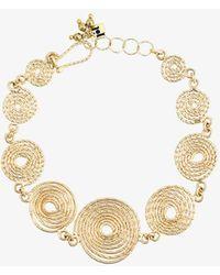 Rosantica - Soffio Gold Coils Anklet - Lyst