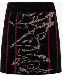 Angel Chen Jacquard Knit Mini Skirt - Black
