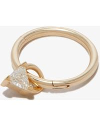 Maria Tash 18k Yellow Diamond Triangle Charm - - Diamond/18kt Yellow - Metallic