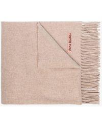 Acne Studios Beige Canada Wool Scarf - Natural
