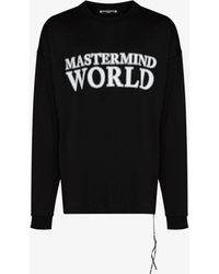 Mastermind Japan World Logo Cotton T-shirt - Black