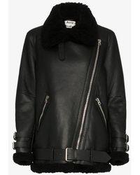 Acne Studios Velocite Shearling Jacket - Black