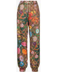 Gucci Flora GG Supreme Pattern Track Pants - Multicolor