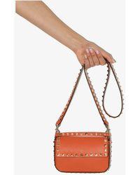 Valentino Garavani Rockstud Leather Mini Bag - Orange